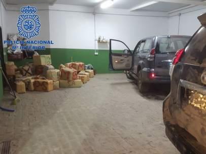 Operación de incautaciópn de 1.500 kilos de hachís en La Línea