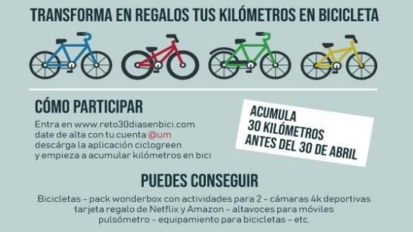 [Comunicacionumu] La Universidad De Murcia Se Suma Al Reto '30 Días En Bici'