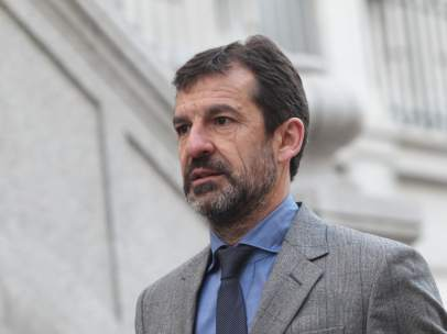 El actual jefe de los Mossos, Ferrán López, llega al Tribunal Supremo.