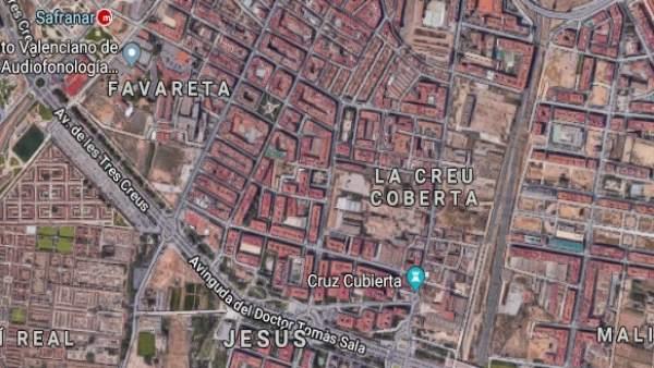 Entorno de la Creu Coberta de València