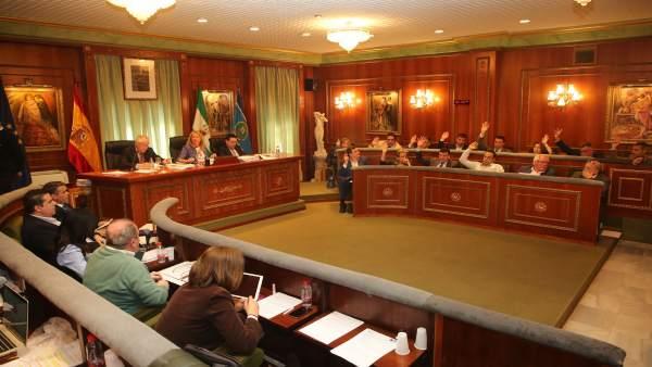 Pleno del Ayuntamiento de Marbella marzo 2018