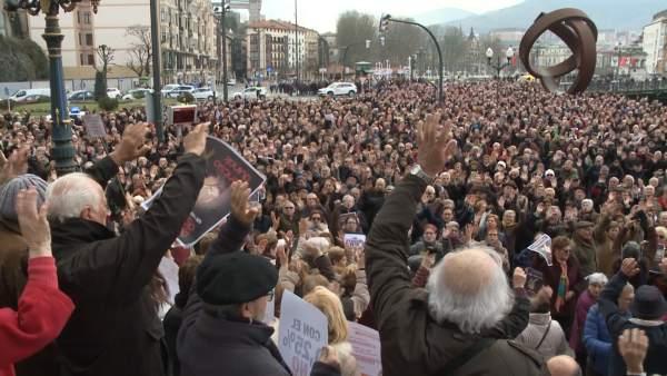 Pensionistas de Bizkaia rechazan la subida del 2 por ciento