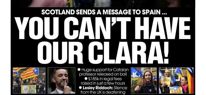 Portada de este jueves 29 de marzo del diario escocés The National.