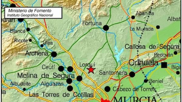 Terremoto en Molina de Segura
