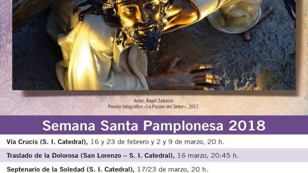 Cartel de la Semana Santa en Pamplona.