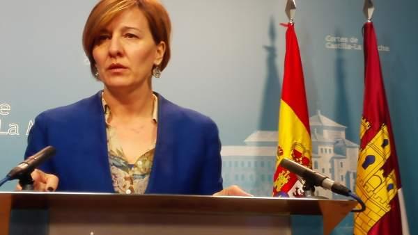 La portavoz del Grupo Socialistas en las Cortes, Blanca Fernández