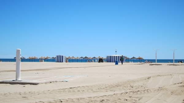 Playa de la ciudad de Valencia