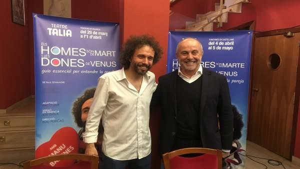 Manu Badenes y Enrique Fayos presentan la obra en el Teatro Talía