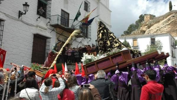 Procesión de Los recaícos de Montefrío (Granada)