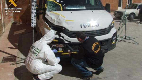 Vehículo presuntamente implicado en el atropello mortal