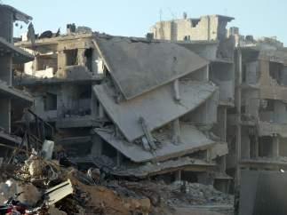 La destrucción de la guerra en Siria