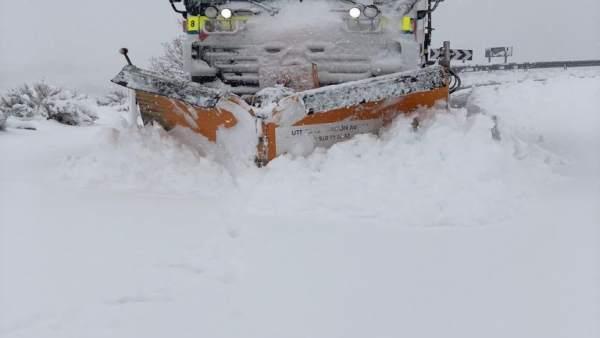 Ávila (17-03-2018).- 80 Carreteras Intervenidas Por Nieve