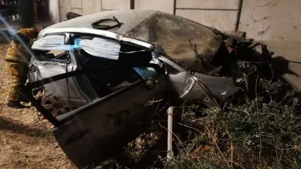 Imagen del accidente en el Campello (Alicante)