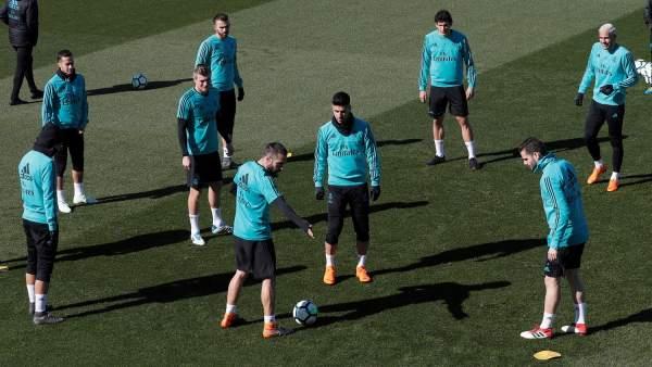 Entrenamiento del Real Madrid en Valdebebas
