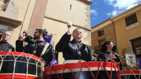 Juan Carlos Moragues en la Rompida de la Hora de Alcora (Castellón)