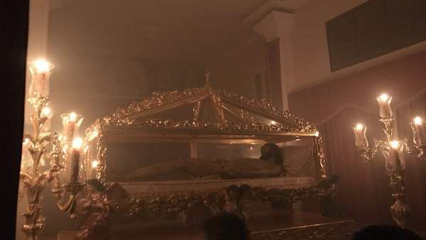 Traslado del Cristo de Santo Entierro de Arriate (Málaga) Semana Santa