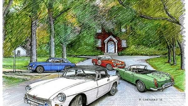 Concentración de vehículos clásicos en Llanes