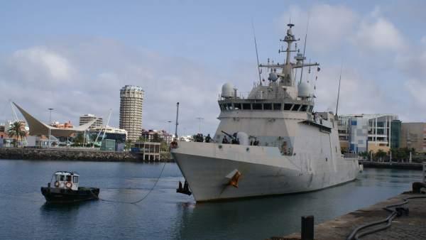 El buque de acción marítima 'Rayo' regresa a su base en Gran Canaria