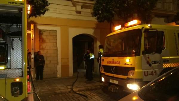 Incendio en una vivienda de El Puerto de Santa María