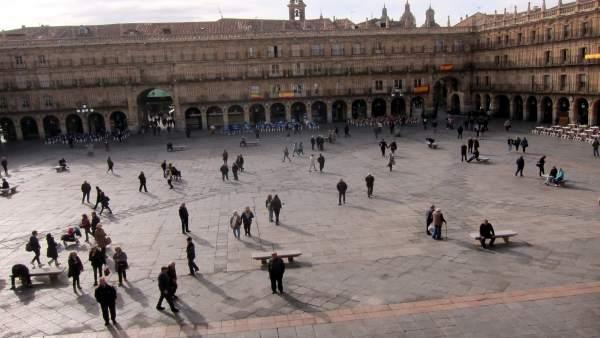 Imagen de la Plaza Mayor de Salamanca