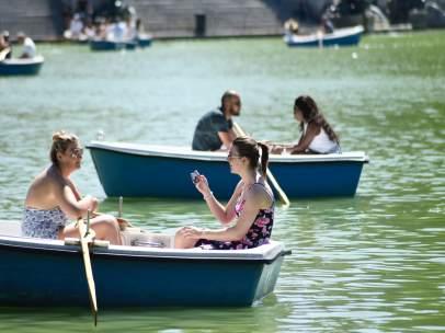 Barcas, retiro, deporte, verano, Madrid, calor, temperaturas