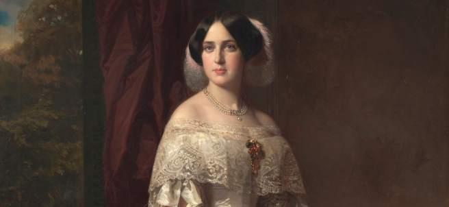 Fotografía facilitada por el Museo del Prado del cuadro 'Josefa del Águila Ceballos, luego marquesa de Espeja', realizado por Federico de Madrazo en 1852.