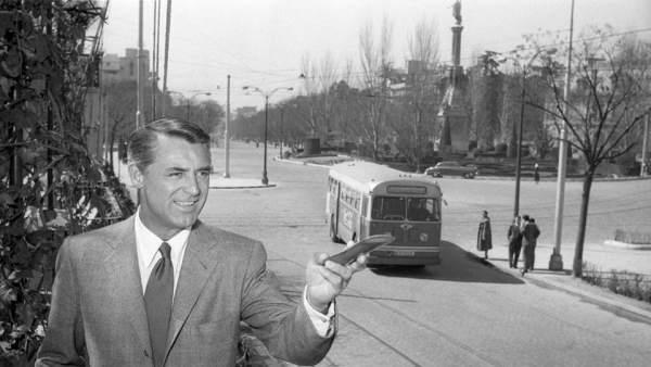 Gerardo Contreras. Cary Grant en la Plaza de Colón. 1956