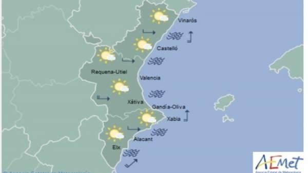 Núvols i temperatures en ascens que arribaran als 27 graus a Gandia i València