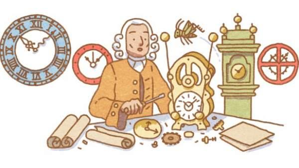Google dedica su 'doodle' a John Harrison, el relojero inglés que logró medir con precisión la longitud