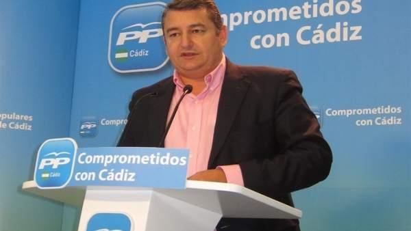 Antonio Sanz, presidente del PP de Cádiz