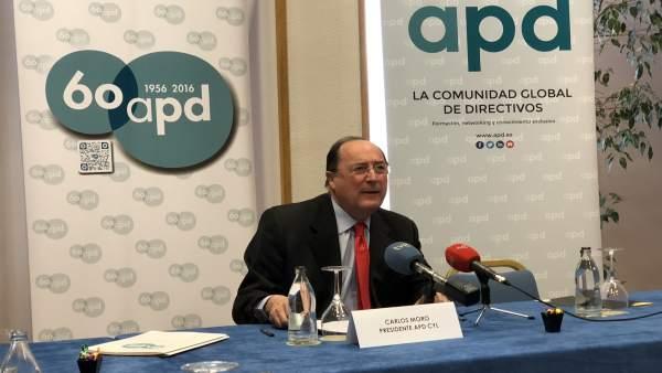 Carlos Moro durante la rueda de prensa, 3-4-18