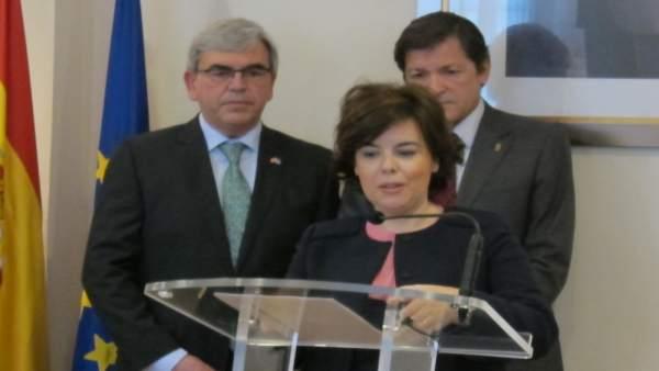 La vicepresidenta del Gobierno, Soraya Sáenz de Santamaría en Oviedo