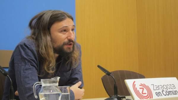El concejal de ZEC Pablo Híjar
