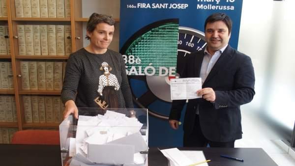 Sorteo de 6.000 euros del Salón del Automóvil de Mollerussa