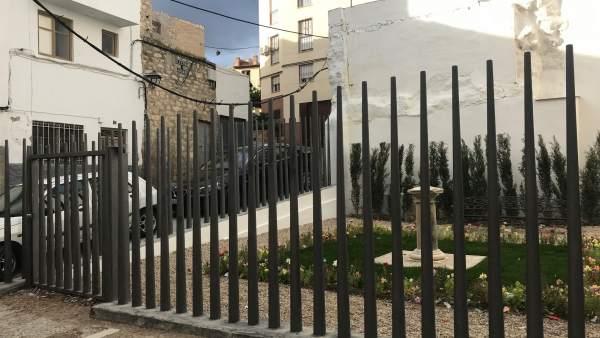 Parque habilitado en la calle Ayuntamiento.