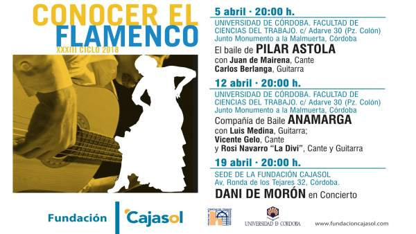 Cartel del ciclo 'Conocer el Flamenco' en Córdoba