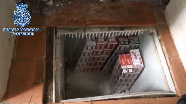 Tabaco incautado por la Policía Nacional