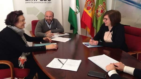 Reunión de Faecta con Diputación
