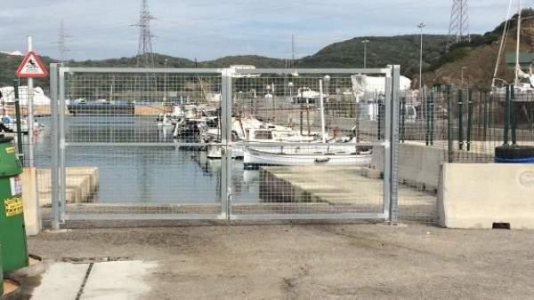 Imagen del varadero del puerto de Mahón