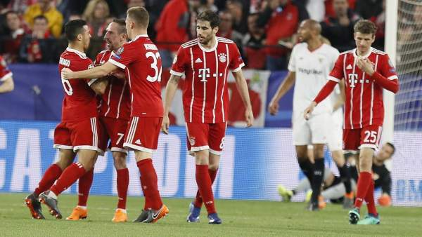 Gol del Bayern al Sevilla