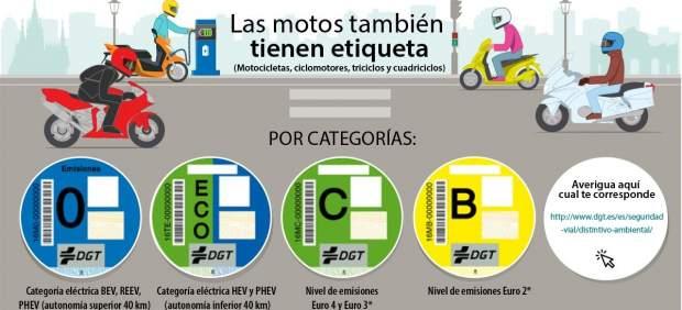 La DGT clasifica también las motos según su contaminación
