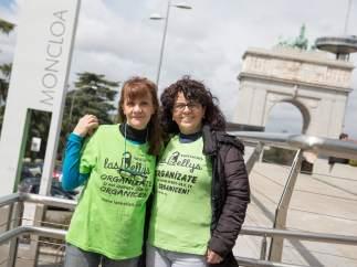 Ángela Muñoz, vicepresidenta de Las Kellys, y Pilar Cazorla, de Las Kellys en Asturias ya en Moncloa