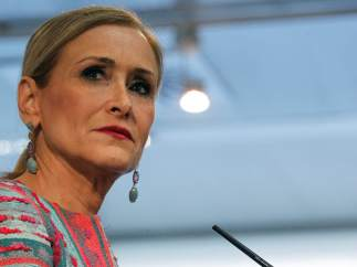 Cristina Cifuentes, presidenta de la Comunidad de Madrid, este miércoles en la Asamblea regional.