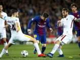Leo Messi, contra la Roma