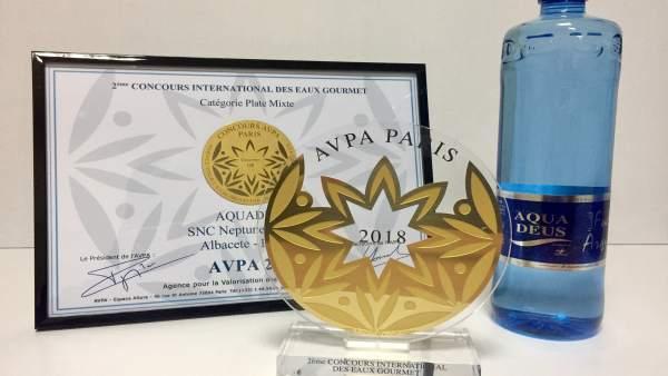 Aquadeus, medalla de oro en el concurso internacional de Aguas Gourmet