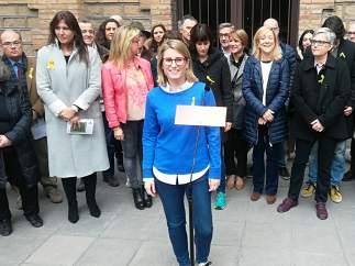 E.Artadi y miembros de la lista por Barcelona