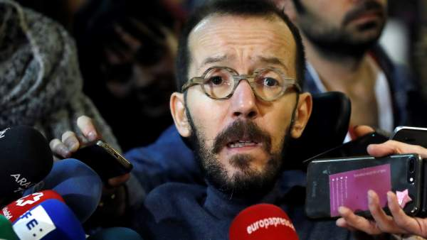 Pablo Echenique, secretario de Organización de Podemos, este sábado.