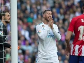 Sergio Ramos ante el Atlético