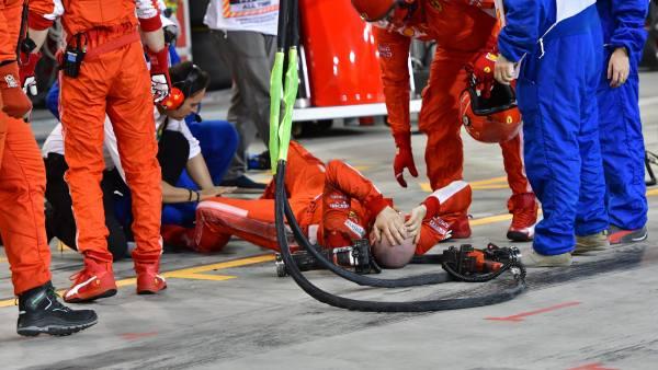 Raikkonen atropella a un mecánico