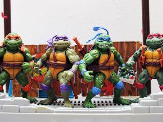 Figuras de las Tortugas Ninja de los 80